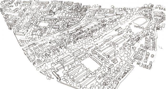 Zeichnung Kasernen von oben