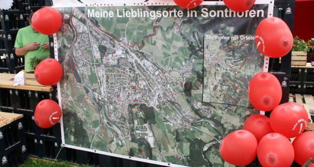 Liebe deine Stadt – Stadtfest-Aktion der BAUSTELLE SONTHOFEN